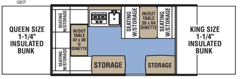 Clipper Camping Trailers 128ST Sport Floorplan Image
