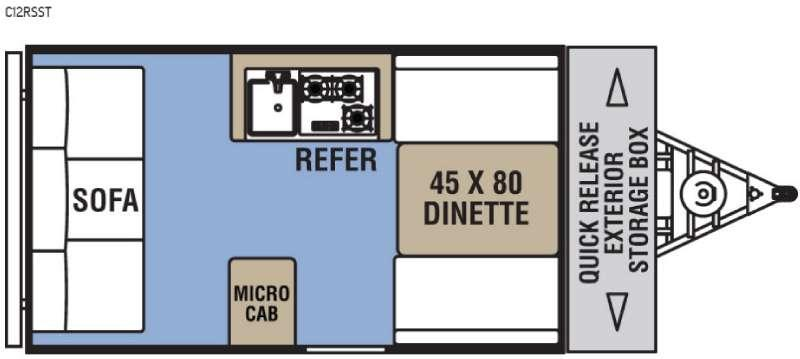 Clipper Camping Trailers C12RSST Floorplan Image