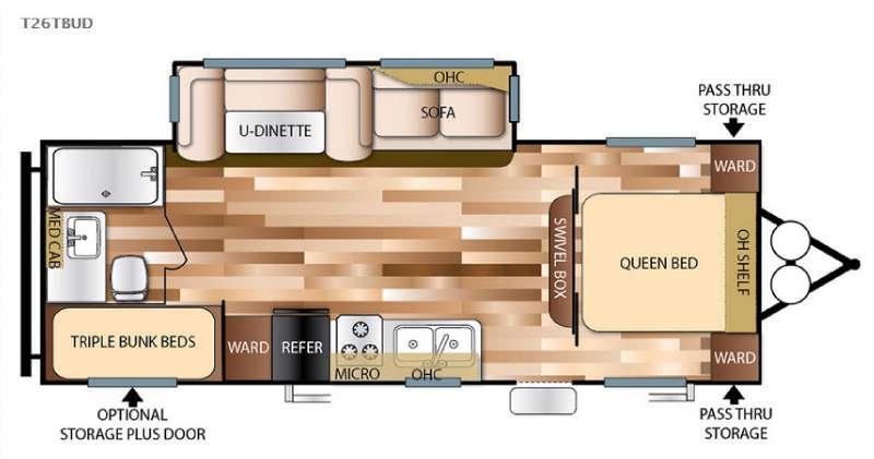 Wildwood 26TBUD Floorplan Image