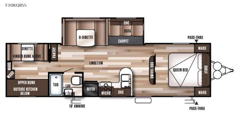 Wildwood 30KQBSS Floorplan