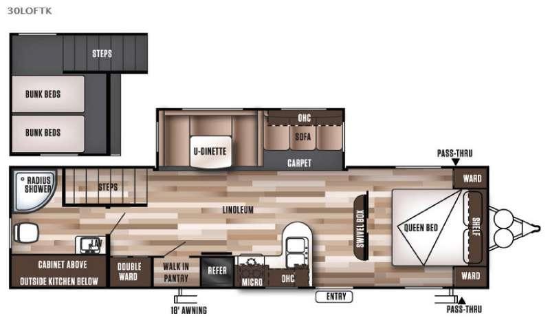 Wildwood 30LOFTK Floorplan Image