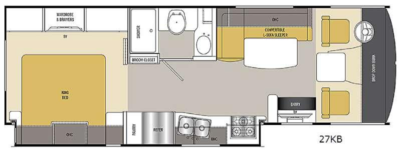 Floorplan - 2017 Coachmen RV Pursuit 27 KB