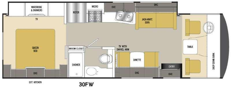 Floorplan - 2017 Coachmen RV Pursuit 30 FW