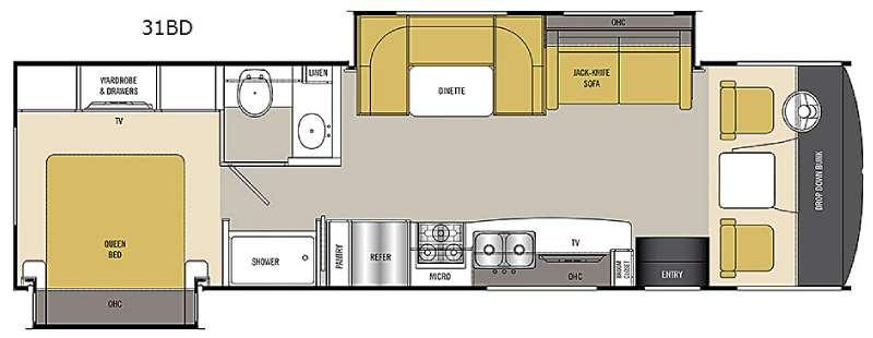 Floorplan - 2017 Coachmen RV Pursuit 31 BD