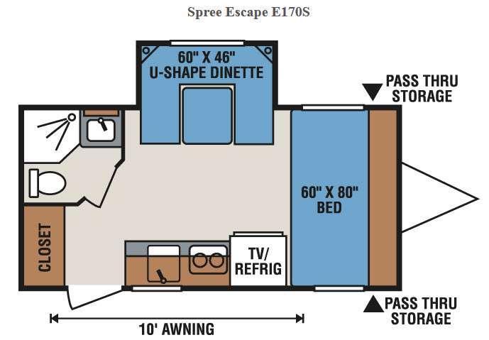 Spree Escape E170S Floorplan Image