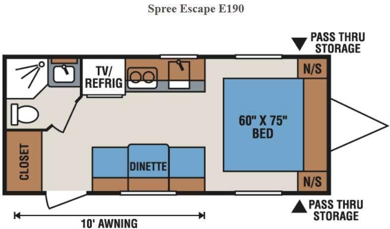 Spree Escape E190 Floorplan Image