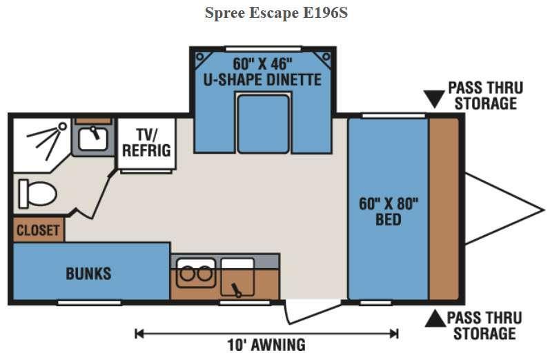 Spree Escape E196S Floorplan Image