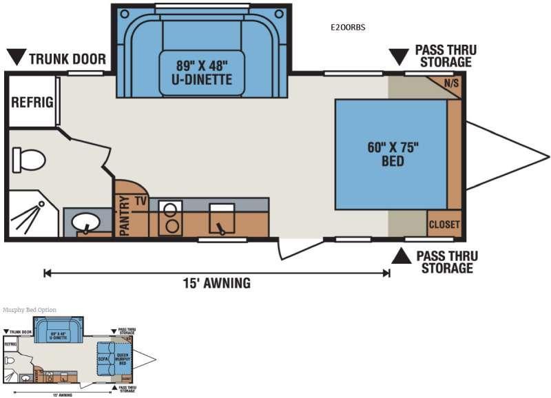 Spree Escape E200RBS Floorplan Image