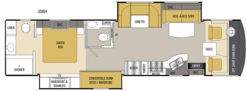 Floorplan - 2017 Coachmen RV Mirada 35BH
