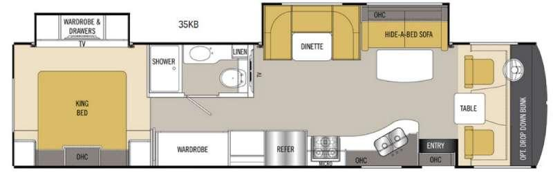Floorplan - 2017 Coachmen RV Mirada 35KB
