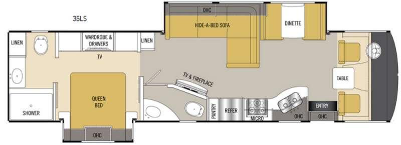 Floorplan - 2017 Coachmen RV Mirada 35LS