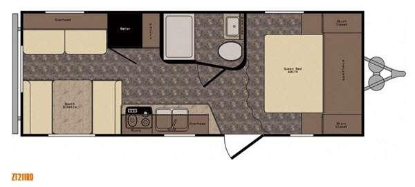 Z 1 ZT211RD Floorplan Image