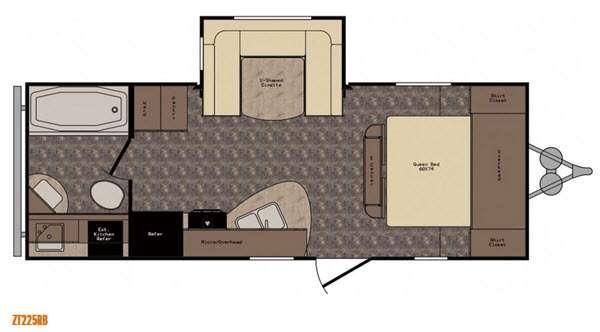 Floorplan - 2017 CrossRoads RV Z 1 ZT225RB