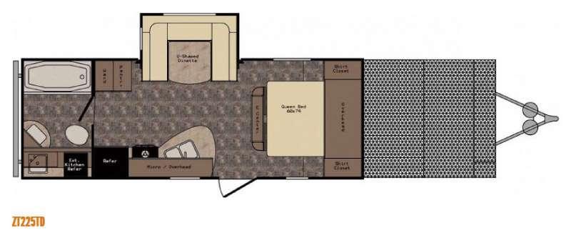 Z 1 ZT225TD Floorplan Image