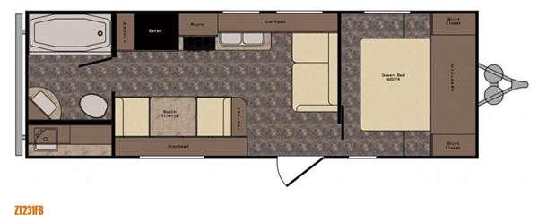Floorplan - 2017 CrossRoads RV Z 1 ZT231FB