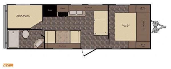 Floorplan - 2017 CrossRoads RV Z 1 ZT252BH