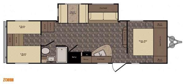 Floorplan - 2017 CrossRoads RV Z 1 ZT301BH