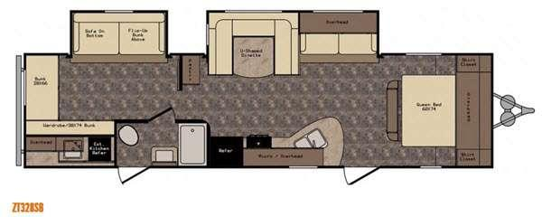 Floorplan - 2017 CrossRoads RV Z 1 ZT328SB