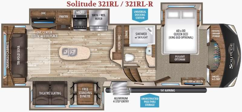 Floorplan - 2017 Grand Design Solitude 321RL