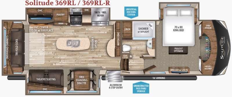 Solitude 369RL R Floorplan Image