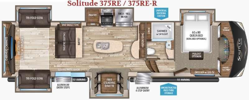 Solitude 375RE R Floorplan Image