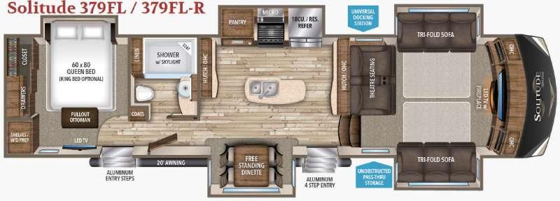 Solitude 379FL R Floorplan Image