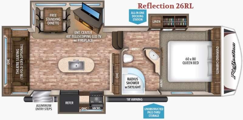 Floorplan - 2017 Grand Design Reflection 26RL