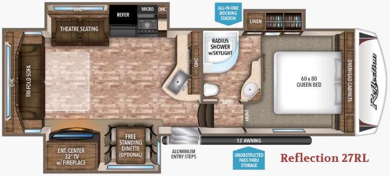 Floorplan - 2017 Grand Design Reflection 27RL