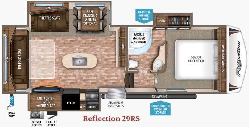 Floorplan - 2017 Grand Design Reflection 29RS