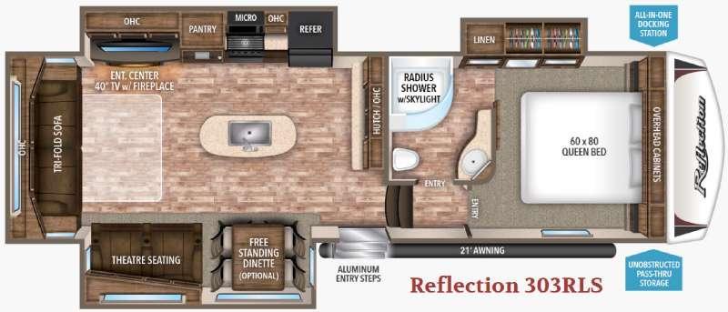 Floorplan - 2017 Grand Design Reflection 303RLS
