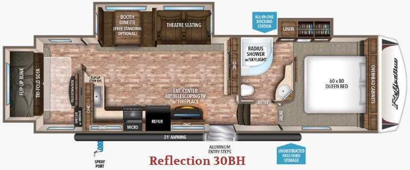 Floorplan - 2017 Grand Design Reflection 30BH