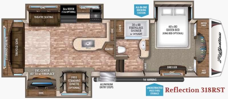 Reflection 318RST Floorplan Image