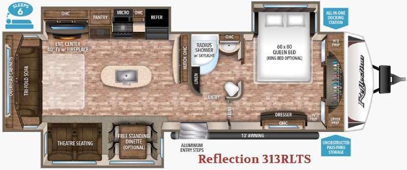 Floorplan - 2017 Grand Design Reflection 313RLTS
