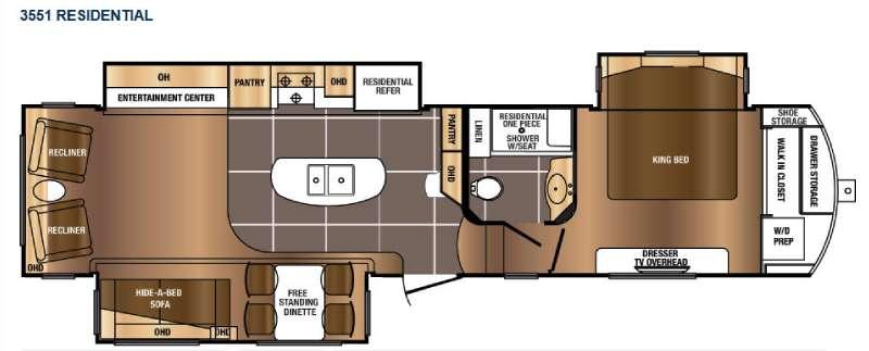 Floorplan - 2017 Prime Time RV Sanibel 3551