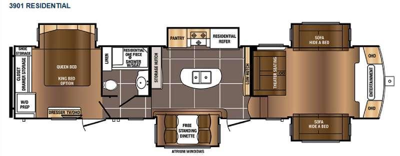 Floorplan - 2017 Prime Time RV Sanibel 3901