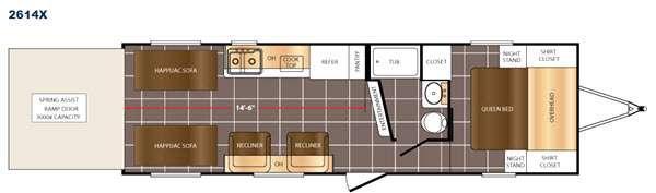 Floorplan - 2017 Prime Time RV Fury 2614X