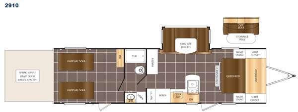 Floorplan - 2017 Prime Time RV Fury 2910