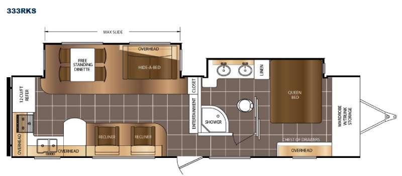 LaCrosse 333RKS Floorplan Image