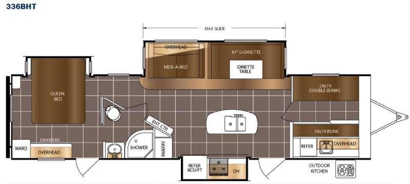 LaCrosse 336BHT Floorplan Image