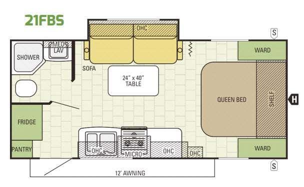 Launch Ultra Lite 21FBS Floorplan Image