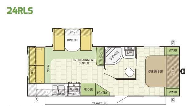 Launch Ultra Lite 24RLS Floorplan Image