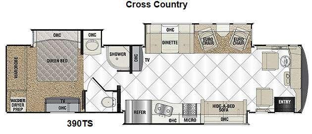 Sportscoach Cross Country RD 390TS Floorplan Image