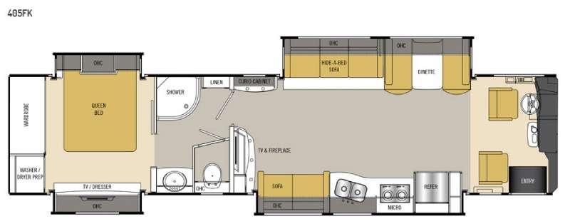 Sportscoach Cross Country RD 405FK Floorplan Image