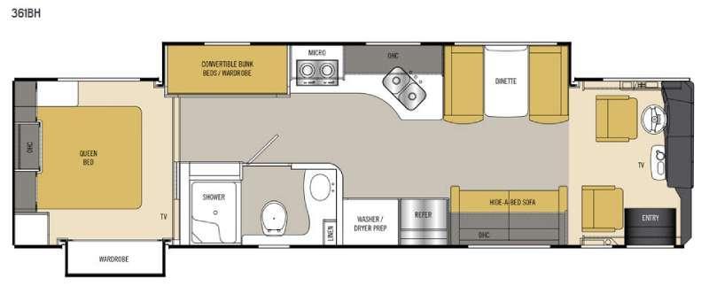 Sportscoach Cross Country SRS 361BH Floorplan Image