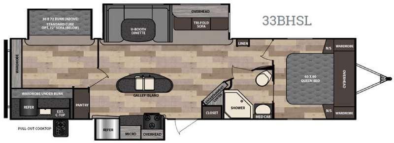 Instinct 33BHSL Floorplan Image