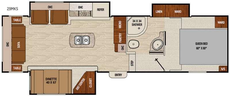 Floorplan - 2017 Coachmen RV Chaparral Lite 29MKS