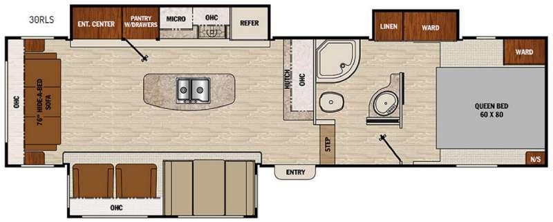 Chaparral Lite 30RLS Floorplan