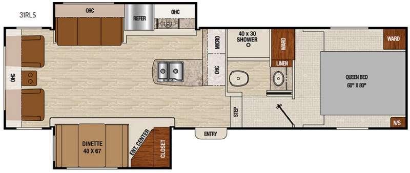 Chaparral X-Lite 31RLS Floorplan Image