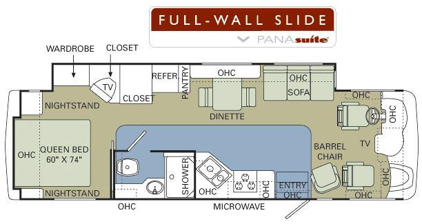 Floorplan - 2007 Holiday Rambler Admiral 33 SFS