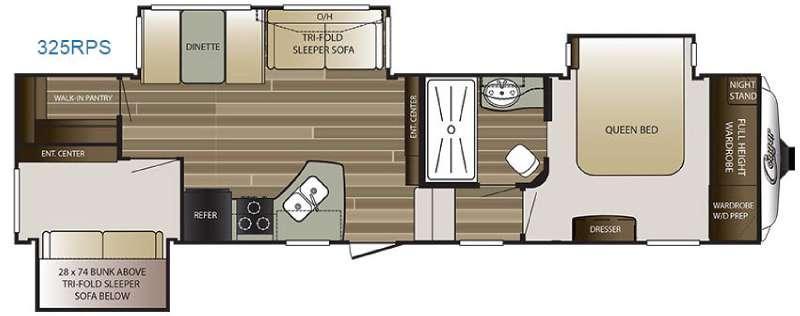 Cougar 325RPS Floorplan Image